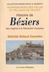 Histoire de Béziers : Des origines à la Révolution française