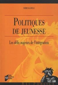 Politiques de jeunesse : Les défis majeurs de l'intégration