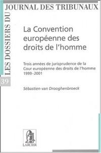 La Convention européenne des droits de l'homme. Trois années de jurisprudence de la Cour européenne des droits de l'homme 1999-2001