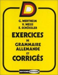 Exercices de grammaire allemande et corrigés