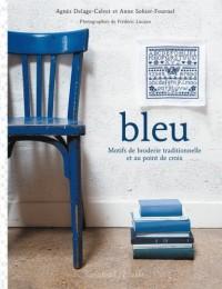 Bleu : Motifs de broderie traditionnelle et au point de croix
