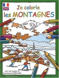 Je colorie les montagnes (légende bilingue français/anglais)