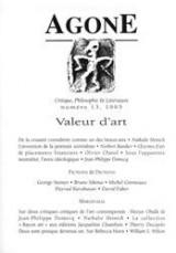 Agone 13-1995-valeur d'art