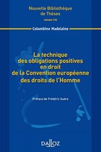 technique des obligations positives en droit de la Convention européenne des droits.Volume 133