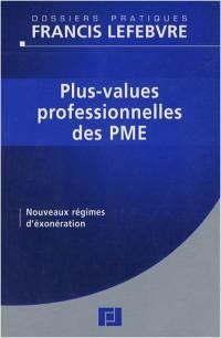 Plus-values professionnelles des PME : Nouveaux régimes d'exonération