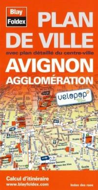Plan d'Avignon et de son agglomération - Avec localisation des stations Vélopop'