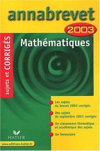 Mathématiques 2003