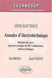 Annales d'électrotechnique. BTS maintenance