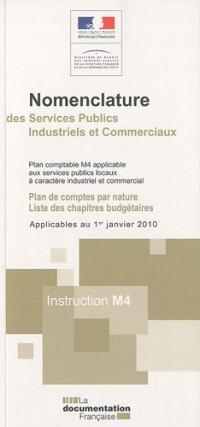 Nomenclature des services publics industriels et commerciaux : Plan comptable M4 applicable aux services publics locaux à caractère industriel et commercial