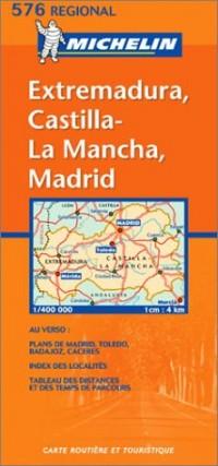 Carte routière : Extremadura, Castilla La Mancha, Madrid, N° 11576 (en espagnol)