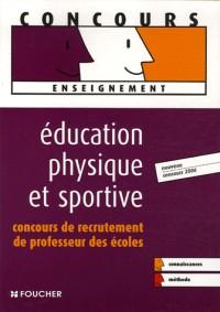 Education physique et sportive : Concours de recrutement de professeur des écoles