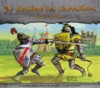 Je dessine les chevaliers : Livre à pochoirs