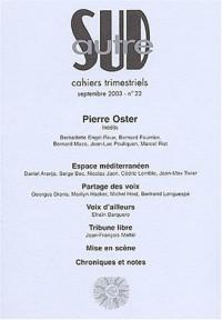 Autre Sud, numéro 22 : Cahiers trimestriels Septembre 2003
