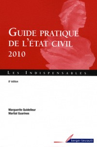 Guide pratique de l'état civil 2010