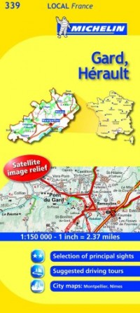 Michelin Map France: Gard, Hrault 339