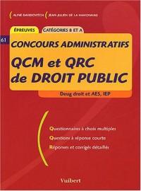 QCM et QRC de droit public Deug droit et AES, IEP