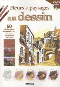 Fleurs et paysages au dessin : 50 Réalisations en pas à pas, esquisses incluses (1DVD)