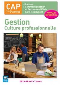 Gestion : Culture professionnelle 1re et 2 années CAP Cuisine et Restaurant - Pochette élève