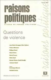 Raisons politiques, numéro 9, février 2003 : Questions de violence