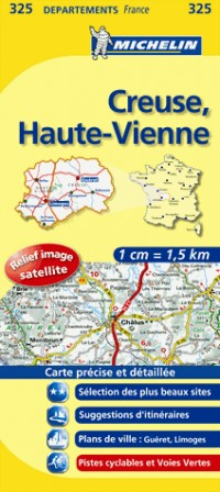 Creuse, Haute-Vienne : 1/150 000
