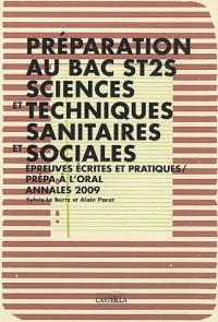 Annales 2009 Bac St2s Sces et Tech Sanitaires et Sociales