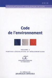 Code de l'environnement (2 volumes) - Textes mis à jour au 16 octobre 2009