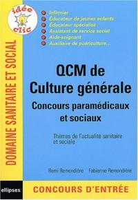 QCM de culture générale : Concours paramédicaux et sociaux