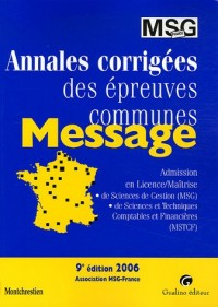 Annales MESSAGE 2006
