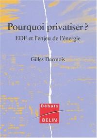 Pourquoi privatiser ? : EDF et l'enjeu de l'économie