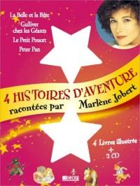4 histoires d'aventure : La Belle et la Bête - Gulliver chez les géants - Le petit Poucet - Peter Pan (coffret 4 volumes)