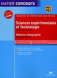 Sciences expérimentales et Technologie ; Histoire et Géographie : Concours de Professeur des Ecoles
