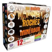 Ma mallette des roches et minéraux : Avec 12 minéraux, 1 poster, 1 livre, 1 loupe