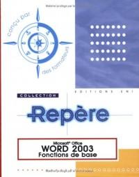 Word 2003 : Fonctions de base