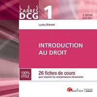 Introduction au droit DCG 1 : 26 fiches de cours pour acquérir les connaissances nécessaires