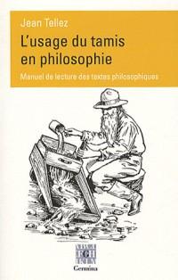 L'usage du tamis en philosophie
