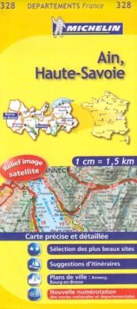 Ain, Haute-Savoie : 1/150 000