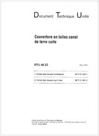 Dtu 40.22 Couverture en Tuiles Canal de Terre Cuite