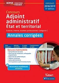 Concours Adjoint Administratif Cat C Annales Corrigées 5e Edt
