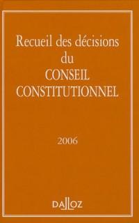 Recueil des décisions du Conseil constitutionnel