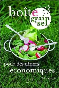 Boîte grain de sel pour dîners économiques