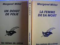 lot 3 livres margaret millar : un air qui tue - la femme de sa mort - un doigt de folie