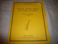 Quinze petites pièces en forme d'études pour saxophone (ou hautbois)