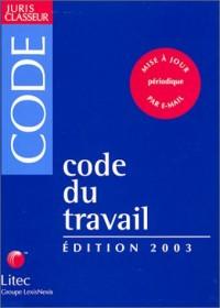 Code du travail 2003