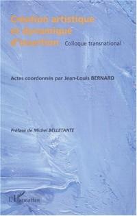 Creation artistique et dynamique d'insertion. (colloque transnational
