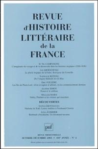 Revue d'histoire littéraire de la France, numéro 4 - 2003