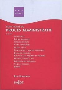 Petit traité du procès administratif