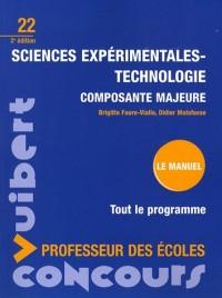 Sciences expérimentales-technologie composante majeure : Professeur des écoles