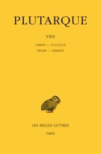 Les Vies parallèles, tome 7. Cimon-Lucullus ; Nicias-Crassus