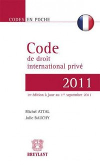 Code de Droit International Prive (Français) 2011