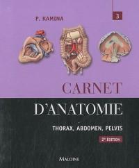Carnet d'Anatomie Tome 3 2e ed
